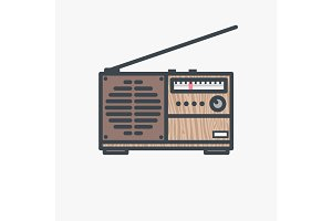 Retro FM radio receiver