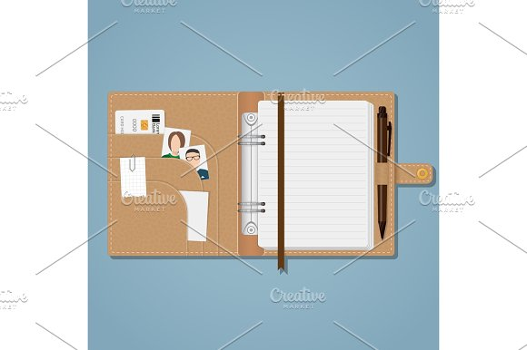 Notebook With Snap And Pen