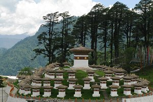 Monument with the stupas
