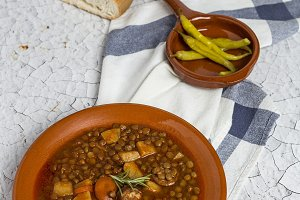Typical Spanish legume stew