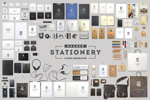 Header Stationery Scene Generator