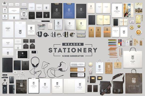 Download Header Stationery Scene Generator