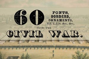 60 Fonts from the Civil War Era