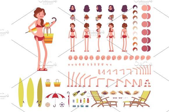 Female Swimsuit Character Creation Set