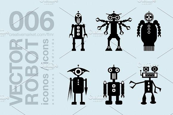Robots Flat Icons 007