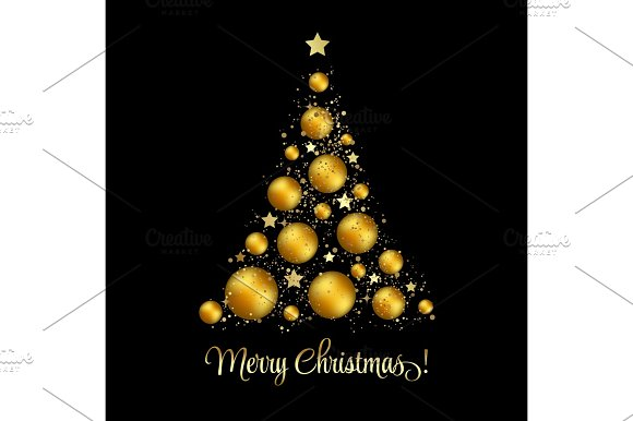 Christmas Tree Vector Greeting