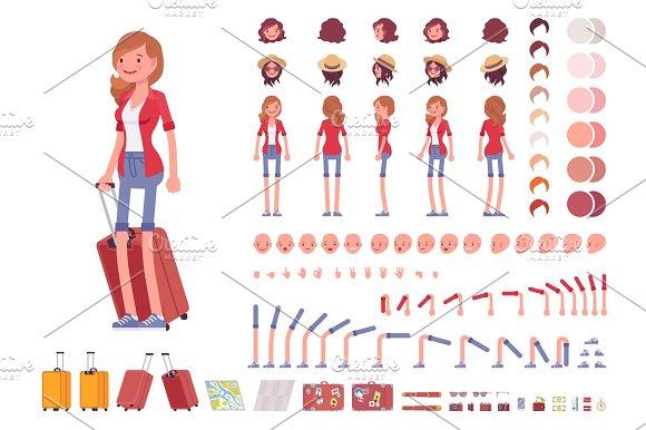 Tourist Female Character Creation Set