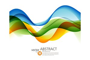 Colorful vector lines. Abstract background