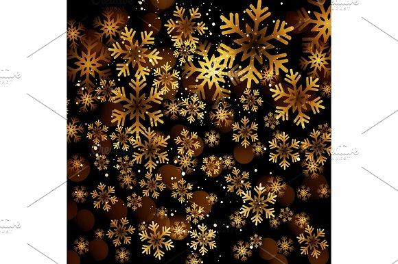 Golden Snowflake On A Dark Background