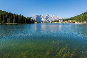 Lake Misurina in the Dolomites