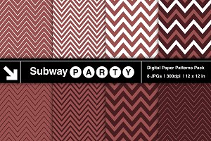 Marsala & White Chevron Papers