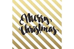 Merry Christmas glittering lettering design