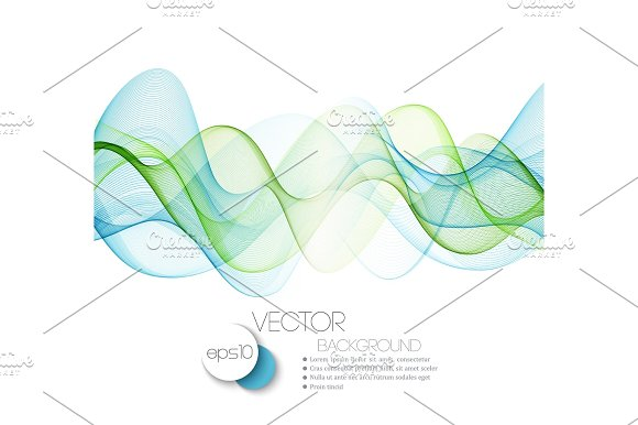 Color Abstract Waves Vector Illustration