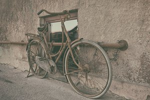 Vintage women bicycle