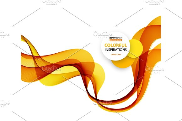 Smooth Wave Stream Line Abstract Header Layout Vector Illustration