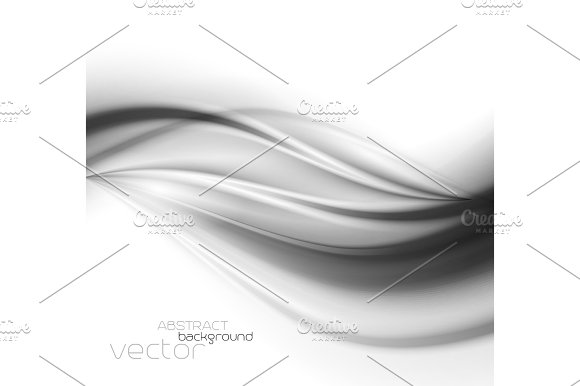 Abstract Template Background With Curved Wave