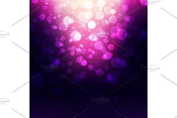 Abstract Holiday Background Bokeh Effect