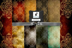 Vintage Damask Background Patterns