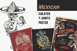Mexican T-shirts And Poster Labels