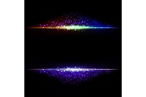 Abstract dark background with color light