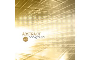 Abstract gold shiny template background