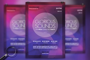 Glorious Sounds | 3in1 Modern Flyer