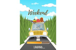 Weekend loading poster.