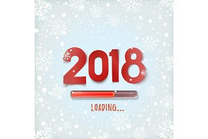 Happy New Year 2018 loading. Abstract design.