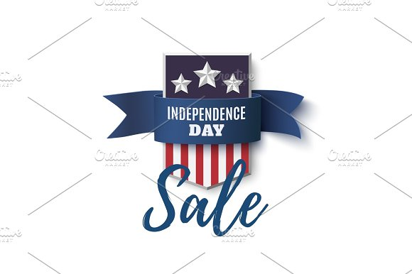 Independence Day Sale Background 4th Of July Template