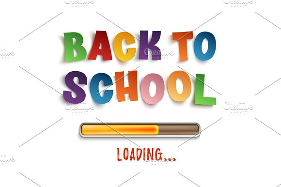 Back To School Loading Colorful Design