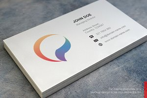 Abstract P Logo and Business Card
