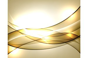 Gold wavy Template Abstract background with transparent curves lines. For flyer, brochure, booklet and websites design