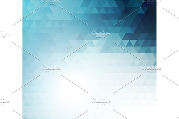 Vector Color Abstract Geometric Banner With Triangle