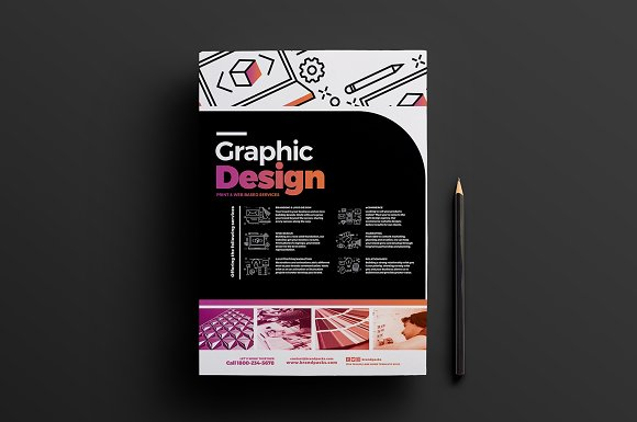 graphic design agency templates pack flyer templates creative market