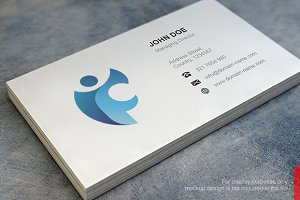 Abstract F Logo and Business Card