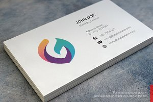G Logo and Simple Business Card