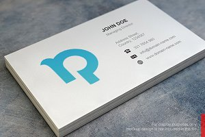 P Logo and Simple Business Card