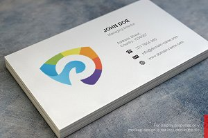 Color Shield Logo and Business Card