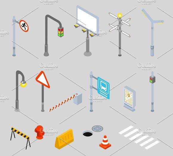Isometric Traffic Management Icons