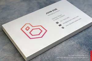 B Logo and Simple Business Card