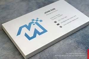 M N Logo and Simple Business Card