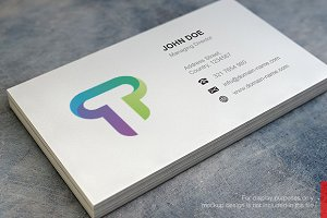 T Logo and Simple Business Card