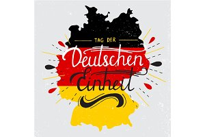 Day of German unity lettering.