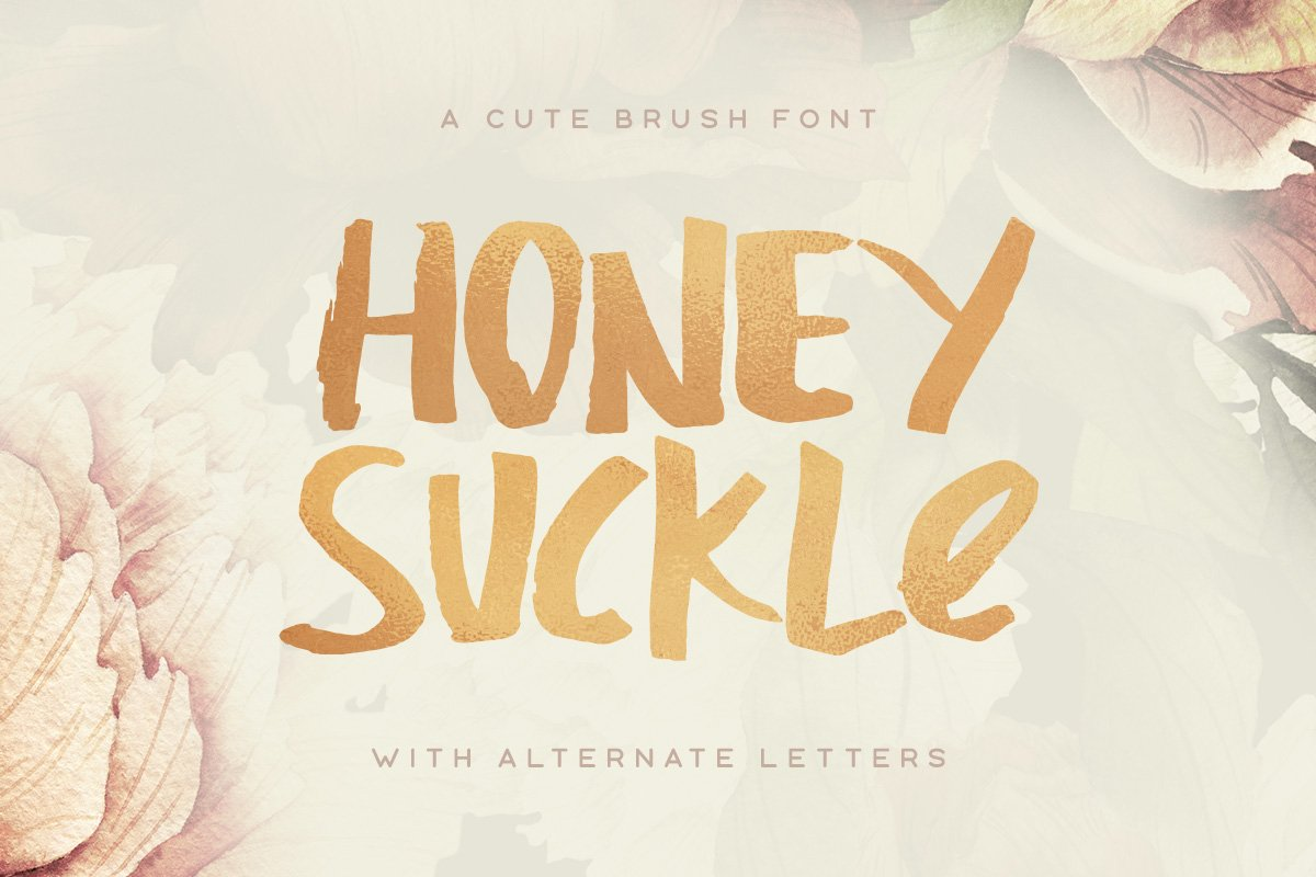 Honeysuckle Typeface ~ Display Fonts ~ Creative Market