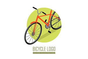 Bicycle Icon Design Isolated. Personal Transport.