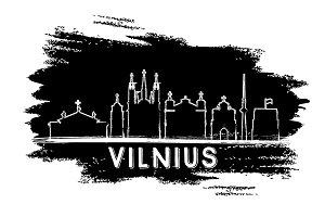 Vilnius Skyline Silhouette.