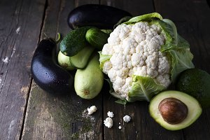 Raw Fresh Organic Vegetables