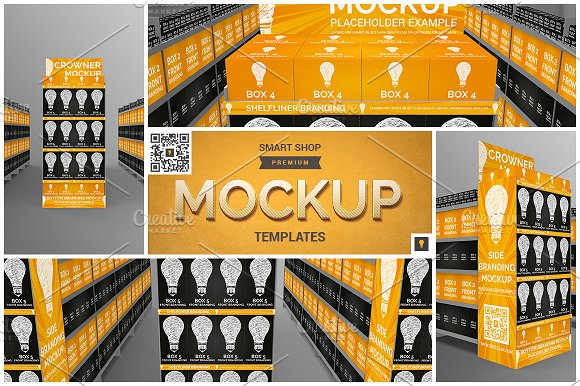 Download Aisle with Gondola Branding Mockup