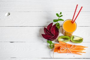 the fresh juice with fruits
