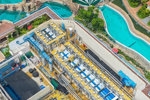 top view of Water treatment plants